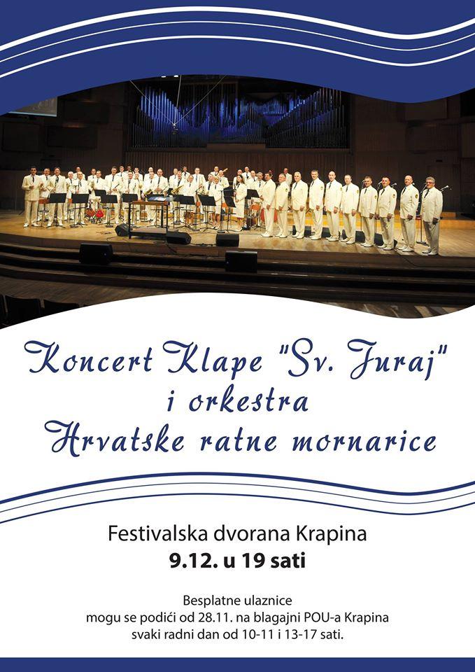 LokalnaHrvatska.hr Krapina Koncert klape Sv. Juraj i orkestra Hrvatske ratne mornarice