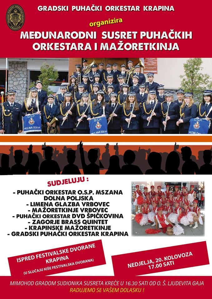 LokalnaHrvatska.hr Krapina Medunarodni susret puhackih orkestara i mazoretkinja